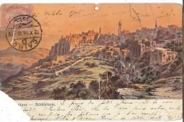 LBL38/4 - EGYPTE CPA VOYAGEE EN 1906 - TRÈS ABÎMEE - Egypt