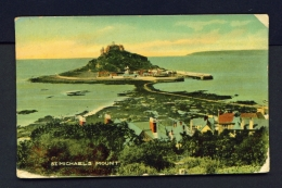 ENGLAND  -  St Michael's Mount  Used Vintage Postcard As Scans - St Michael's Mount