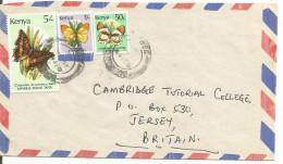 KENYA LETTRE POUR JERSEY  PAPILLONS - Kenya (1963-...)