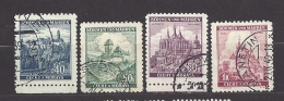 Böhmen Und Mähren Bohemia & Moravia 1939 Gest. Mi. 25, 26, 27, 28 Burgen, Städte. Cities And Castles I.  C.1 - Bohemia & Moravia