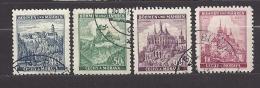 Böhmen Und Mähren Bohemia & Moravia 1939 Gest. Mi. 25, 26, 27, 28 Burgen, Städte. Cities And Castles I.  C.2 - Bohemia & Moravia