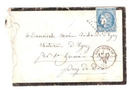Lettre  AIGUEPERSE, Puy De Dôme GC 21 S CERES DE BORDEAUX N° 45 ,15 Juin 1871 + PASSE > EYRY Par St Germain Lembron B/TB - 1870 Emission De Bordeaux