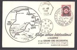 Rallye Aérien D' Algérie Et Du Grand Erg  1951 - Algérie (1924-1962)