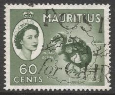 Mauritius. 1953-58 QEII. 60c Bronze Green Used. Mult Script CA W/M SG 302ab - Maurice (...-1967)