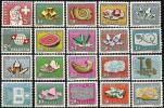 """Schweiz Pro Patria 1958-1961 """"Mineralien & Fossilien"""" ** MNH (Zumstein CHF 41.00) - Minéraux"""
