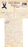 CPA Sans Image Au Verso - 1940 - Postée à  Aillas  (33) - Adressée à Condom - FM - France