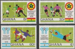 """GHANA 746-9 """"Fußball-Afrikameisterschaft,Ghana;Fußball-Weltmeisterschaft Argentinien"""" MNH / ** / Postfrisch - Ghana (1957-...)"""