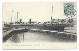 """CPA - LE HAVRE  LE TRANSATLANTIQUE """" LA SAVOIE """" - Seine Maritime 76 - Circulé - Bateau, Paquebot - Steamers"""