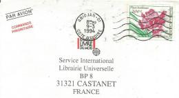 COTE D'IVOIRE LETTRE AVION DE ABIDJAN POUR LA FRANCE 1994 - Côte D'Ivoire (1960-...)