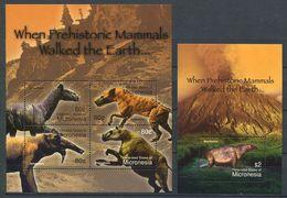 163 MICRONESIE 2004 - Faune Prehistorique Dinosaure (Yvert 1334/37 - BF 141) Neuf ** (MNH) Sans Trace De Charniere - Micronésie