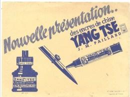 Buvard YAN TSE Nouvelle Présentations Des Encres De Chine YANGTSE J.M. PAILLARD - Stationeries (flat Articles)