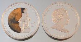 Îles Cook 1 Dollar 2009 Mars Argent Couleurs Espace - Cook