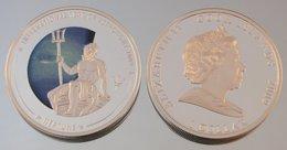 Îles Cook 1 Dollar 2009 Neptune Argent Couleurs Espace - Cook