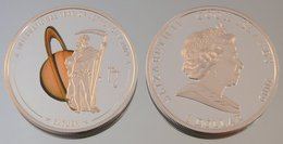 Îles Cook 1 Dollar 2009 Saturn Argent Couleurs Espace - Cook