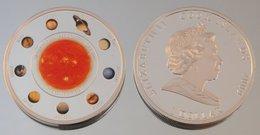 Îles Cook 1 Dollar 2009 Solar System Argent Couleurs Espace - Cook