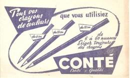 Buvard CONTE Pour Crayons De Couleurs Que Vous Utilisez Du 9 Cm, Du 12 Cm, Du 18 Cm De 6 à 60 Nuances - Papeterie