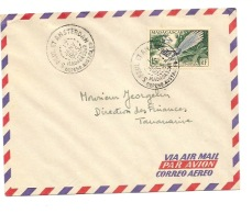 SAINT PAUL ET AMSTERDAM LETTRE T/MADAGASCAR 1955 - Forschungsstationen