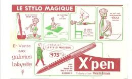 Buvard X'pen Le Stylo Magique Fabrication Waterman En Vente Aux Galeries Lafayette - Stationeries (flat Articles)