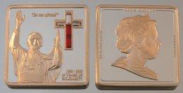 Îles Cook 5 Dollars 2005 Don't Be Afraid Argent Couleurs Pape Jean-Paul II - Cook