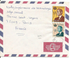 MAROC LETTRE AVION DE BERKANE POUR LA FRANCE 1991 - Marruecos (1956-...)