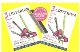 Buvard GILBERT & BLANZY POURPRE 3 Critérium Styles Au Bouts Des Doigts Stylo à Bille Porte Mine Crayon Graphite - Papeterie
