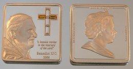 Îles Cook 5 Dollars 2006 BXVI Square Argent Couleurs Pape Benoît XVI - Cook