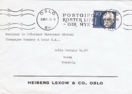 NOR-L1 - NORVEGE N° 418 F. NANSEN Prix Nobel Sur Lettre Pour La France - Nobelpreisträger