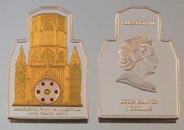 Îles Cook 5 Dollars 2006 Cathedral Valencia Argent Couleurs Pape Benoît XVI - Cook