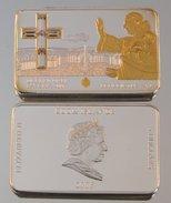 Îles Cook 5 Dollars 2006 Urbi Et Orbi Argent Couleurs Pape Benoît XVI - Cook