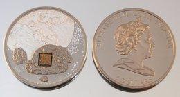 Îles Cook 5 Dollars 2008 Meteorite Argent Couleurs Espace - Cook