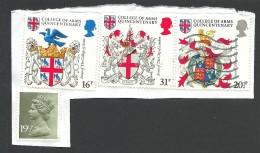 Great Britain, 4 Stamps, Used - 1952-.... (Elizabeth II)
