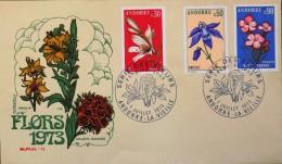 ANDORRE1973 - 1er JOUR 1973 - Série Des Fleurs - Andorre-la-Vieille 07.07.1973 - Très Bon état - - FDC