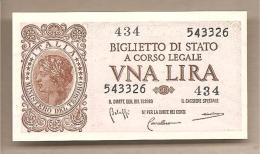 """Italia - Banconota Non Circolata Da 1 Lira """"Luogotenenza"""" - 1944 Con Folder Protettivo - [ 1] …-1946 : Kingdom"""