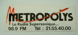 AUTOCOLLANT RADIO METROPOLIS 98.9 FM - Aufkleber