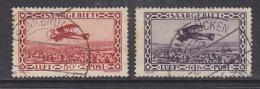 Saargebiet 1928 Airmail 2v Used Ca Saarbrucken, Brown Spots On Paper (29906) - Luchtpost