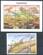 163 ZAMBIE 1999 - Faune Prehistorique Dinosaure (Yvert 834/42 - BF 54) Neuf ** (MNH) Sans Charniere - Zambie (1965-...)