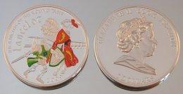 Îles Cook 5 Dollars 2009 Lancelot Argent Couleurs Guerre - Cook