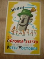 Wieze Oktoberfeesten 1957 Postkaart - Lebbeke