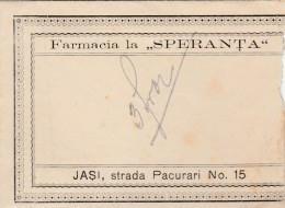 "Romania - Iasi - 1900 - Farmacia ""Speranta"" - Plic - Envelope - Invoices & Commercial Documents"