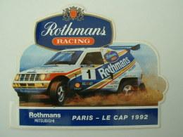 AUTOCOLLANT MITSUBISHI  - ROTHMANS RACING - PARIS LE CAP 1992 - Aufkleber