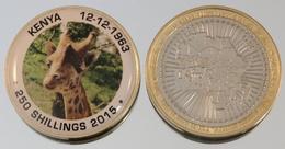 Kenya 250 Shillings 2015 Bimetal Couleurs Animal - Kenya