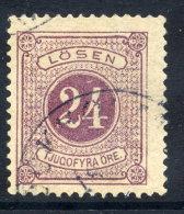 SWEDEN 1882 Postage Due 24 öre Purple Perf. 13, FU  Michel 7b A - Postage Due