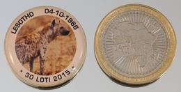 Lesotho 30 Loti 2015 Bimetal Couleurs Animal - Lesotho