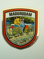 2 ECUSSON AUTOCOLLANT - MADURODAM - VILLAGE MINIATURE HOLLANDE - Aufkleber