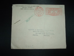 LETTRE EMA 5c Du JAN 13 1925 NEW YORK + THE NATIONAL CITY BANK OF NEW YORK - United States