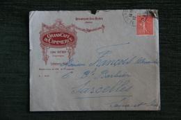 Enveloppe Publicitaire Timbrée Avec Lettre , BESANCON LES BAINS - Grand Café Du Commerce , Léon DUTRUY - Francia