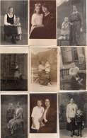 Lot De 9 Photos Originales - 9 Cartes Photos, Et 0 Photos Thème Mère Et Enfants - Légende - Guerre, Militaire