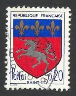 France, 20 C. 1966, Sc # 1143, Mi # 1570, Used - 1941-66 Wappen