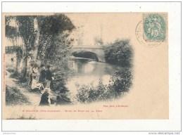 31 SAINT SULPICE RIVES ET PONT DE LA LEZE PECHEURS A LA LIGNE CPA BON ETAT - France