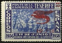 ESPAÑA GUERRA CIVIL EMISIONES NACIONALES CANARIAS EDIFIL 61 * MH - Emisiones Nacionalistas